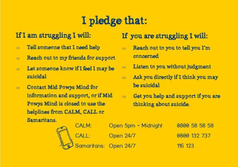 Suicide Prevention Pledge