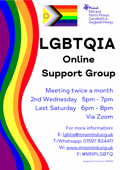 LGBTQIA Support Group Poster